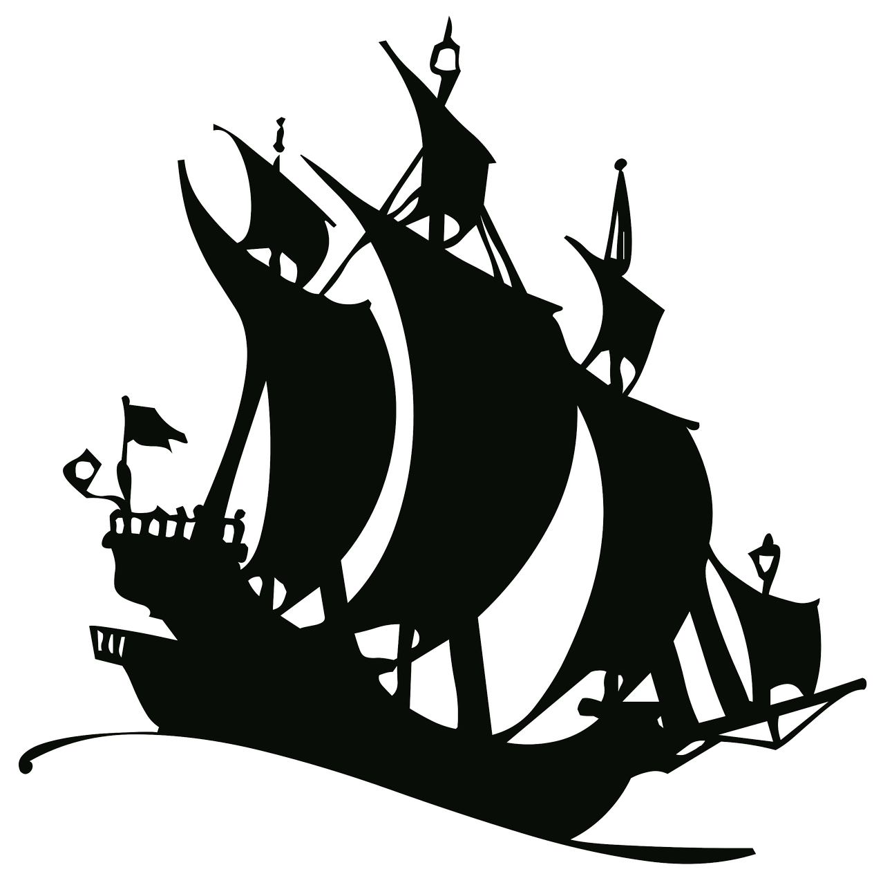 Smart drawing silhouette. Travel outline ship old