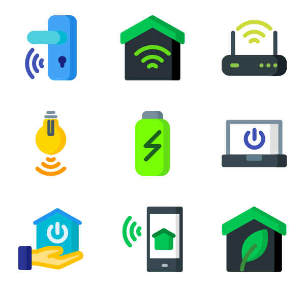 Smart home png. House icon packs