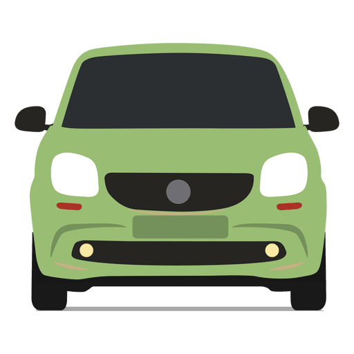 Smart vector small car. Front view transparent png