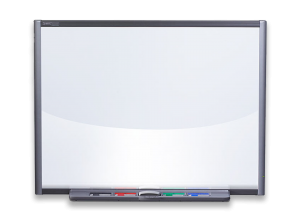 Smartboard drawing classroom. The future interactive displays