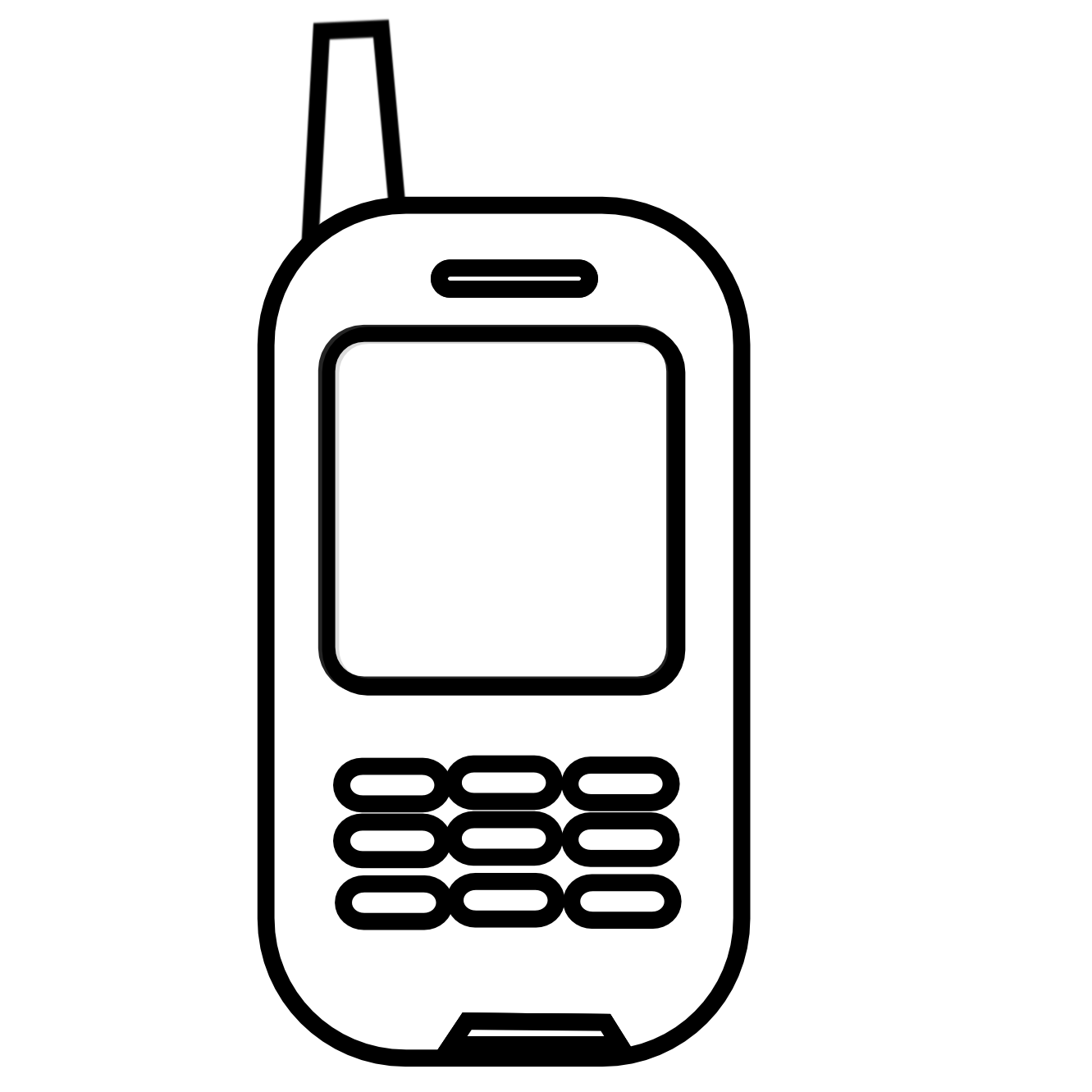 cell clipart old cell phone