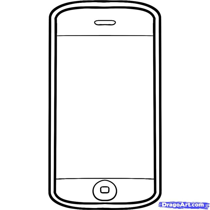 Smartphone clipart blank. Cell phone template manqal