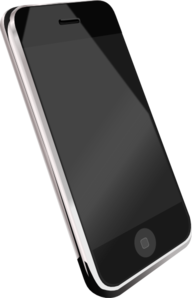 Smartphone clipart clip art. Modern cell phone at