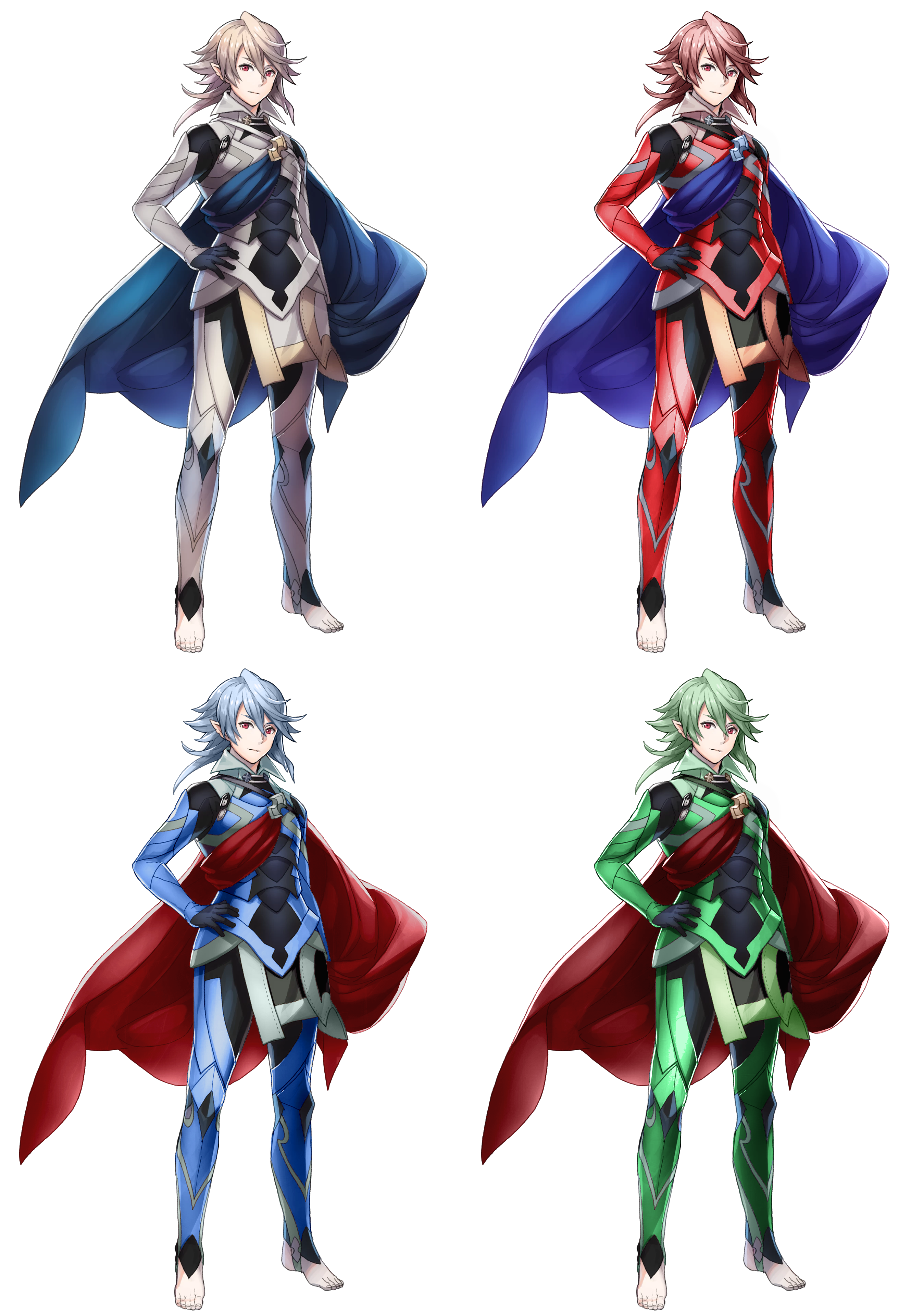 Smash 4 costumes png. I recolored corrin m