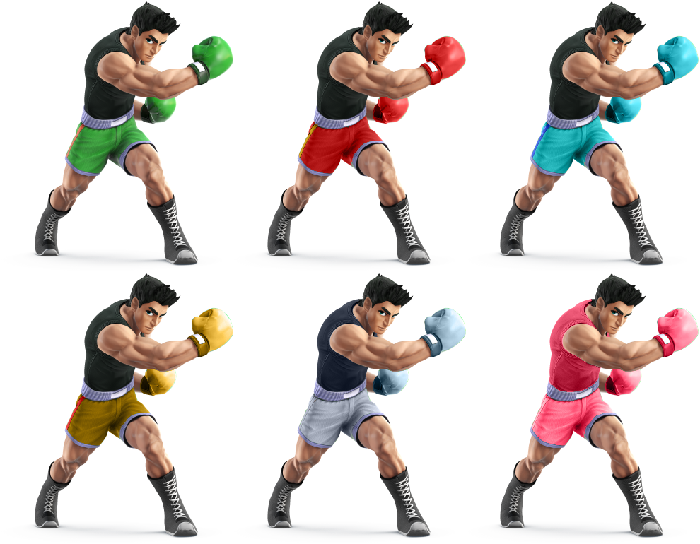 Smash 4 little mac png. Ssb recolors by shadowgarion
