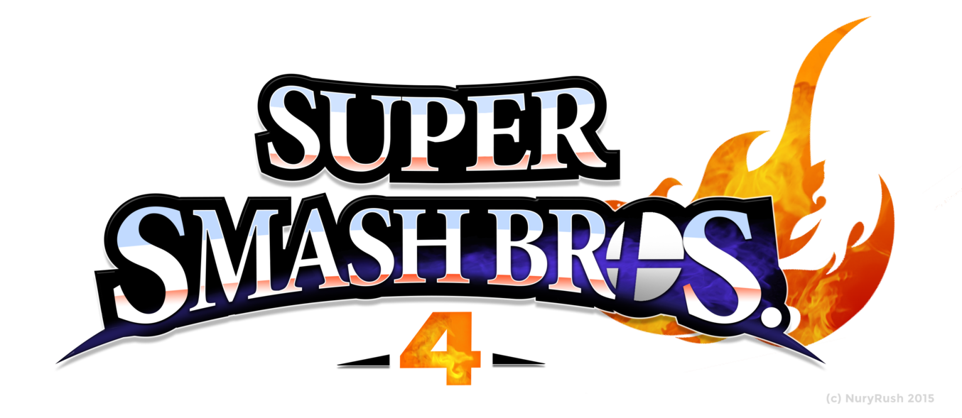 Smash 4 logo png. Super bros remade by
