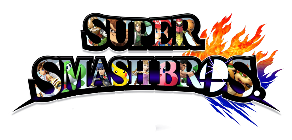 Smash bros logo png. Super characters inside by