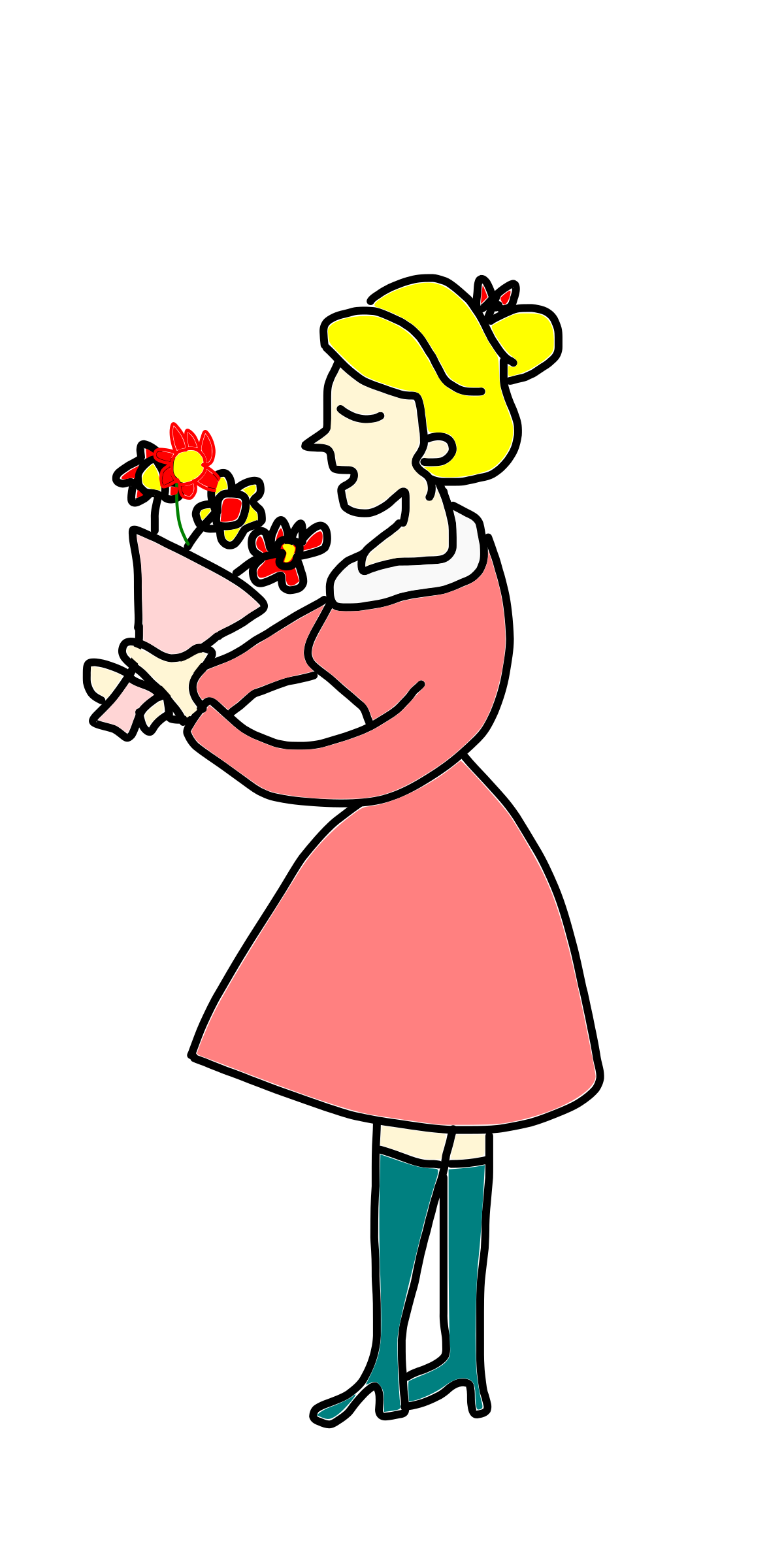 Smell clipart smell the rose. Free cliparts download clip