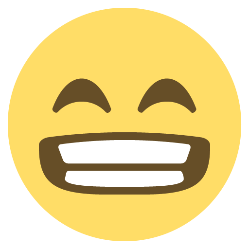 Smiley face png emoji. Grinning with smiling eyes