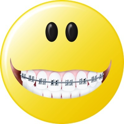 Braces clipart. Smiley face with