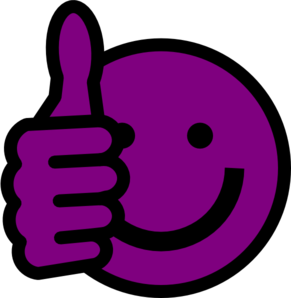 Smile clipart purple. Thumbs up clip art