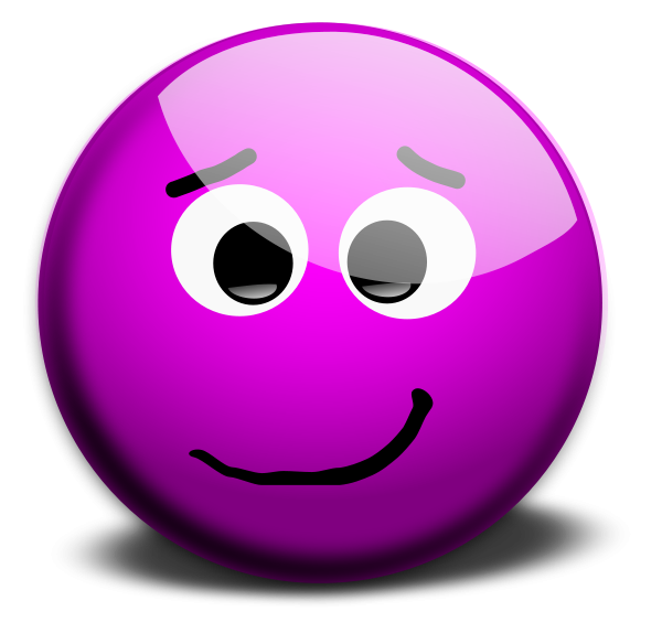 Smile clipart purple. M face smileys vector