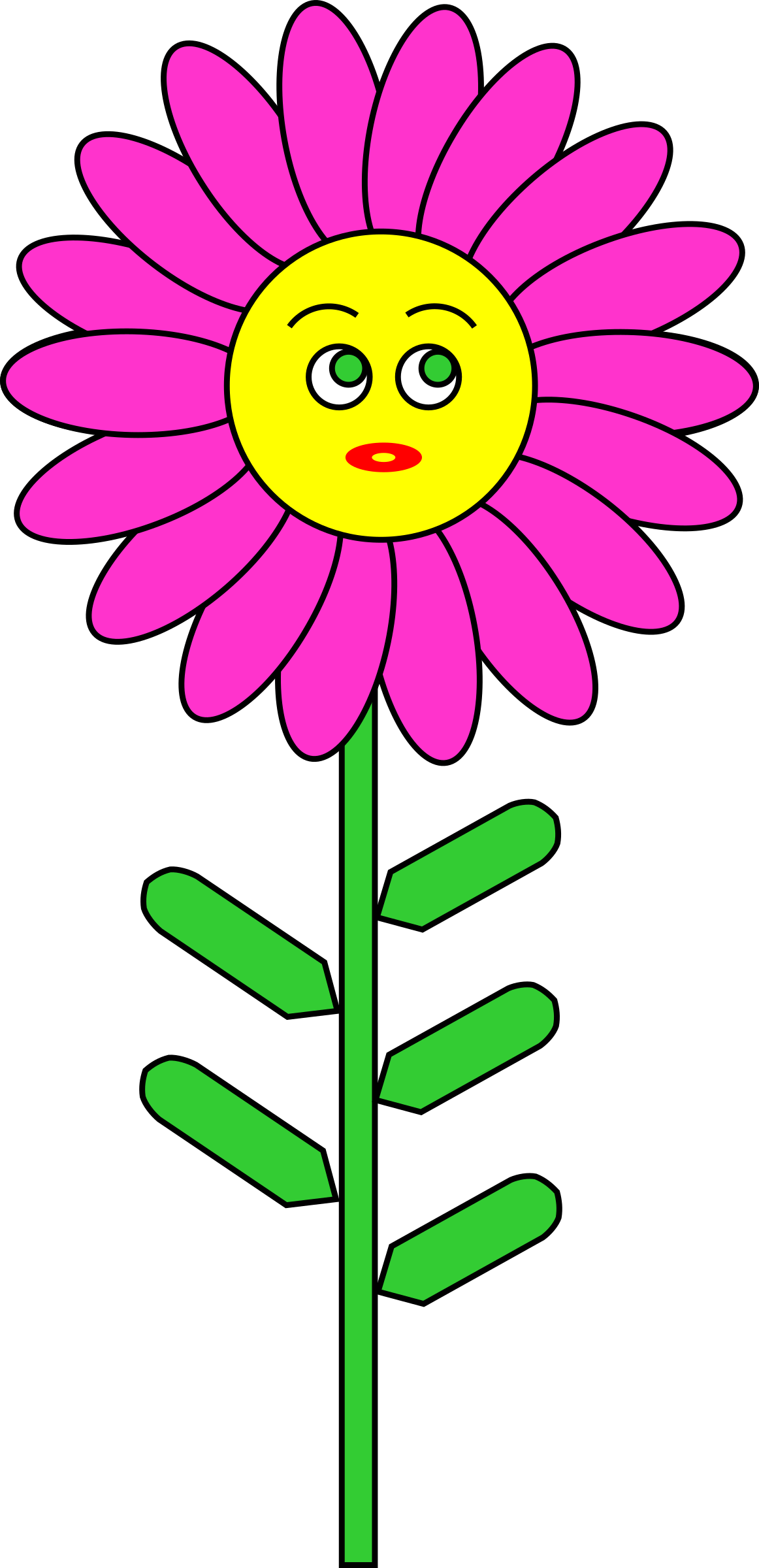 Smile clipart purple. Flower with big image