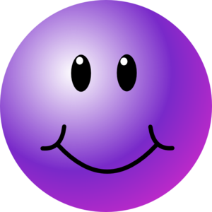 Smile clipart purple. Smiley face clip art