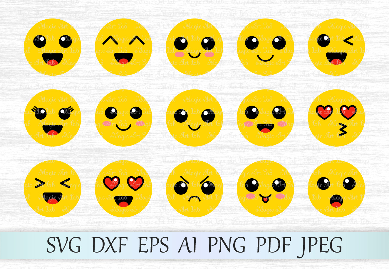 Smile clipart smile emoji. Svg emoticon design bundles