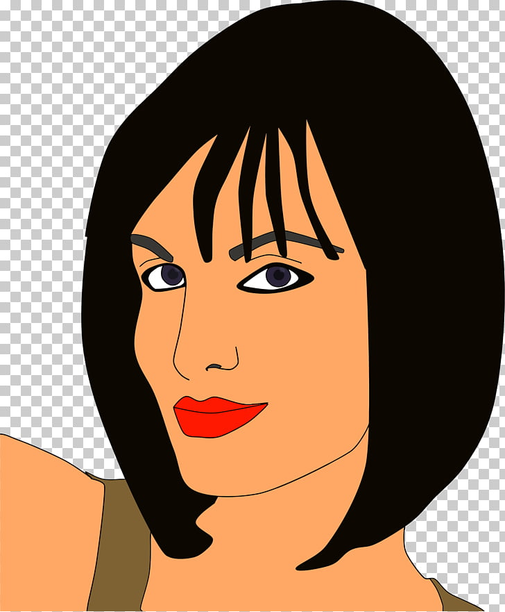 Smile woman. Face illustration png clipart