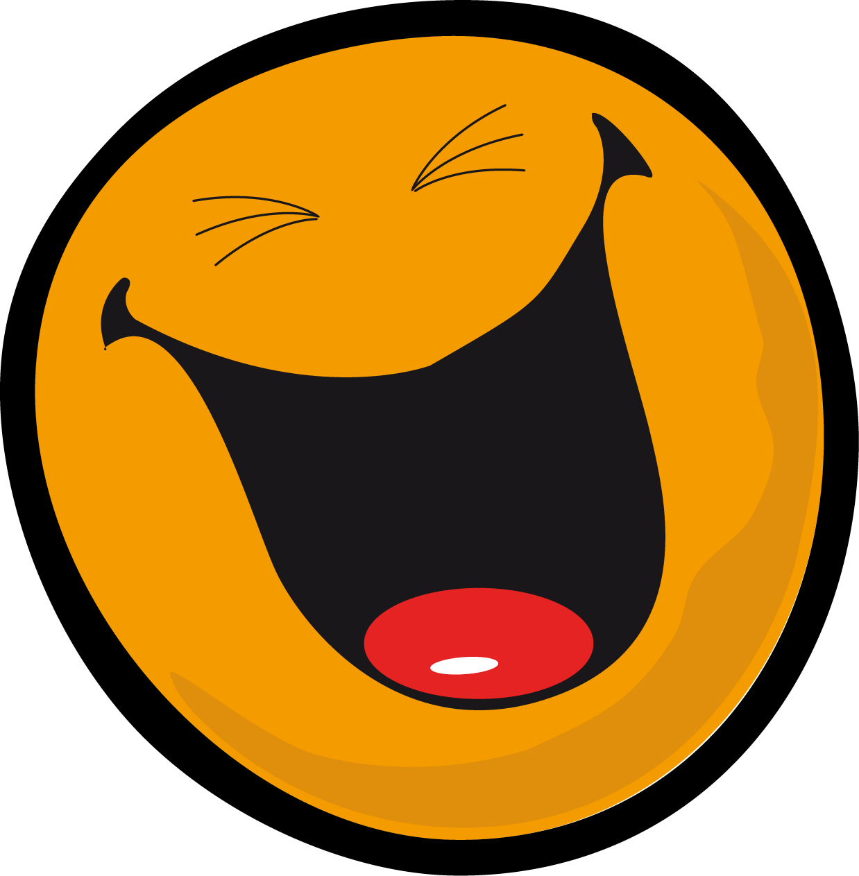 Smiley clipart. Very laugh face clipartly
