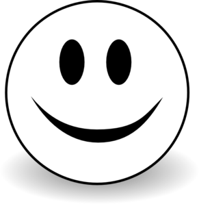 Smiley clipart. B and w clip