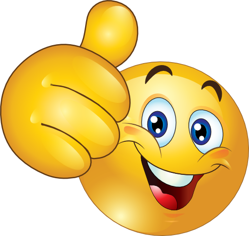 Smiley clipart. Thumbs up happy emoticon