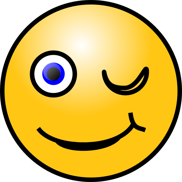 Smiley clipart. Wink clip art at
