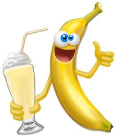 Smiley clipart banana. Miss chiquita says enjoy banner
