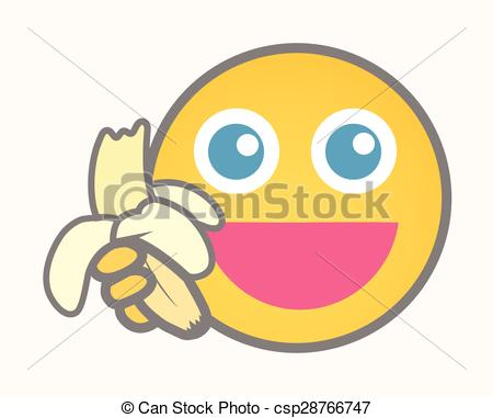 Eat cartoon vector. Smiley clipart banana freeuse library