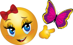 Smiley clipart butterfly. Emoticon i royalty free
