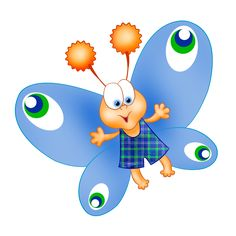 Smiley clipart butterfly. Baby cartoon clip art