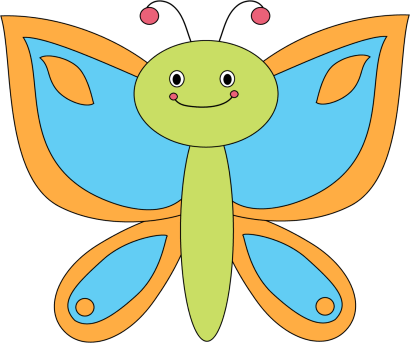 Smiley clipart butterfly. Pencil and in color