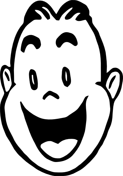 Smiley clipart outline. Face black and white