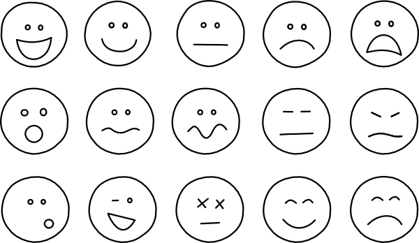 Smiley clipart outline. Face clip art at