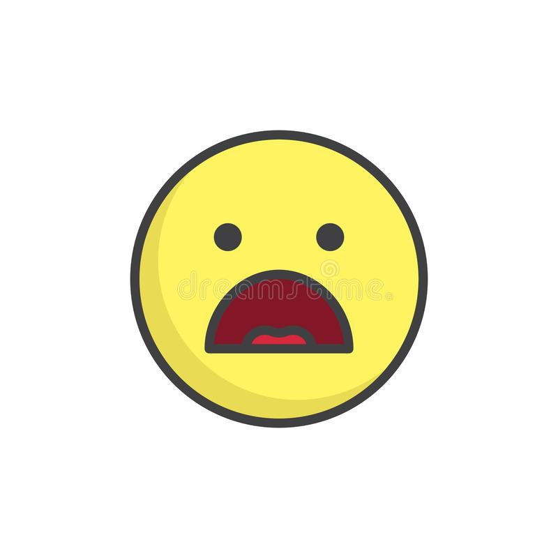 Smiley clipart outline. Frowning face emoticon with graphic royalty free