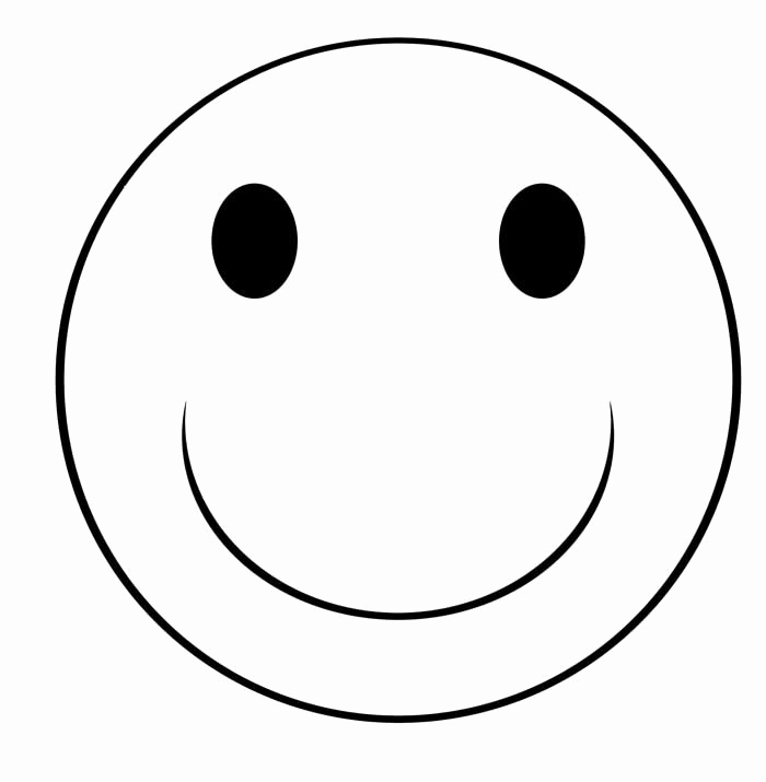 Smiley clipart outline. Faces black and white clip black and white stock