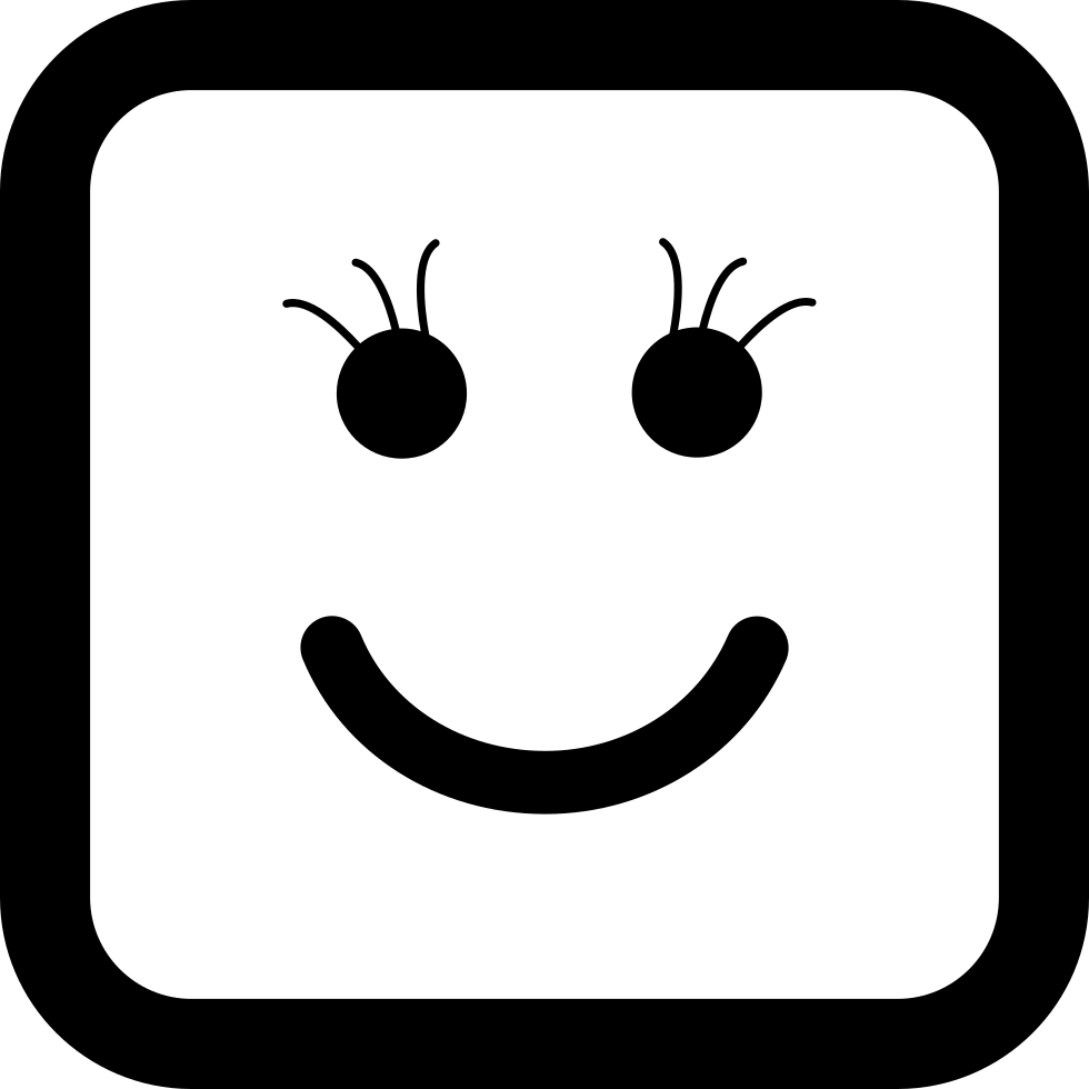 Smiley clipart shape. Of square face svg