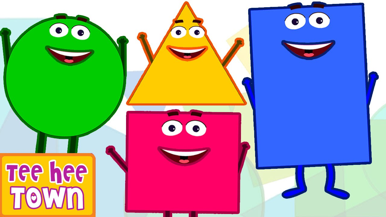Smiley clipart shape. Shapes song learn for