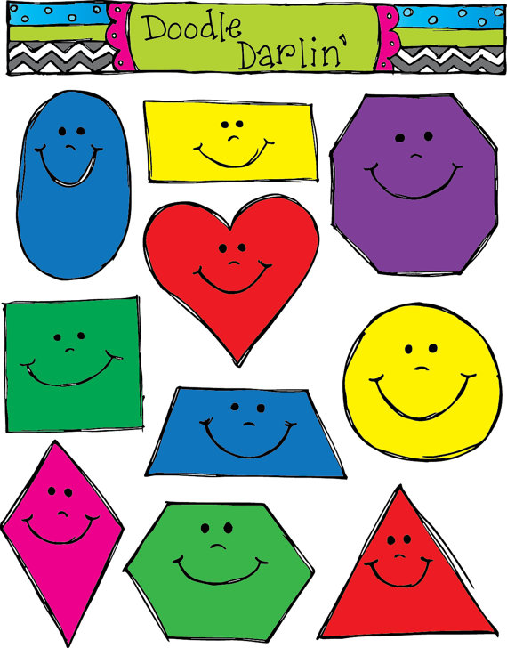 Smiling shapes set instant. Smiley clipart shape png black and white stock