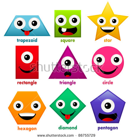 Smiley clipart shape. Cartoon shapes stock illustration picture royalty free