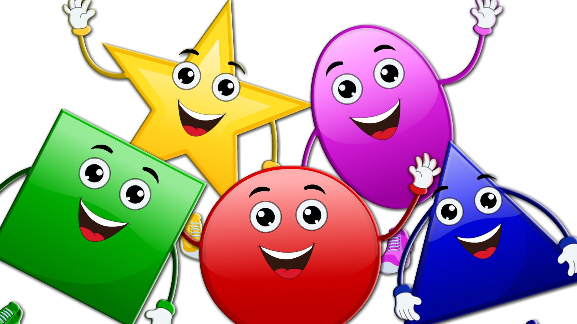 Five little shapes song. Smiley clipart shape clip art library
