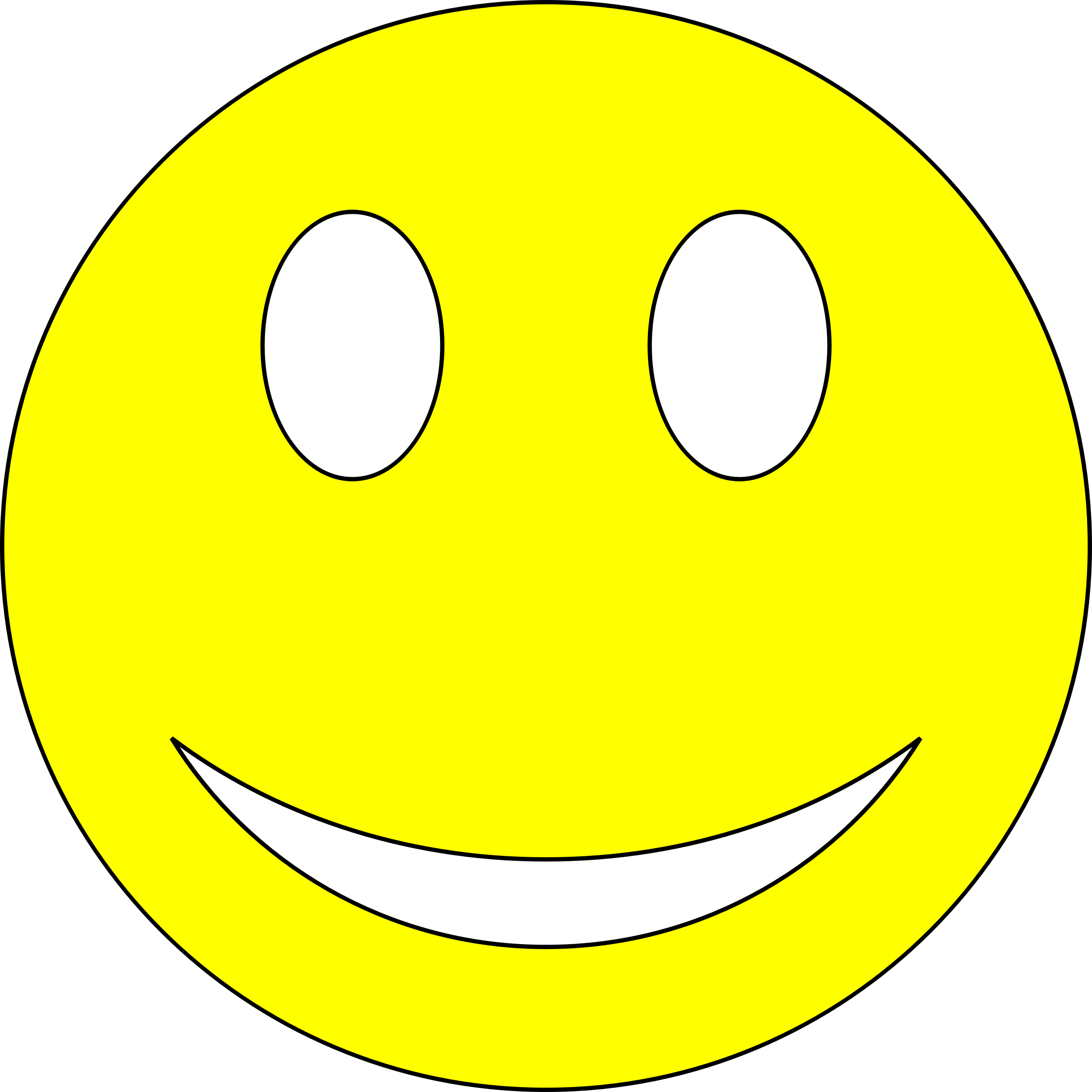 Smiley clipart study. Yellow big image png