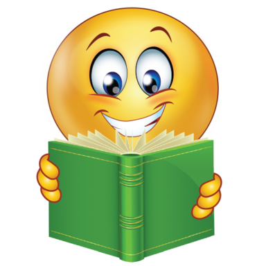 Smiley clipart study. Successful student with book png black and white