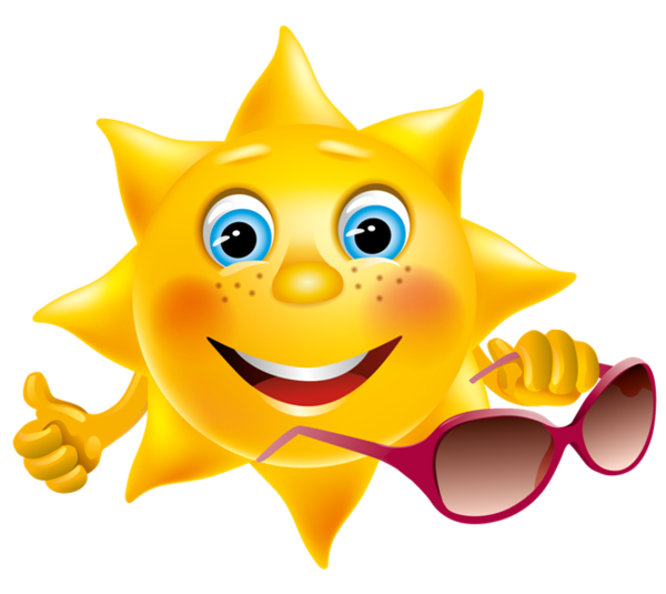 Smiley clipart summer. Soleil time pinterest smileys image library stock