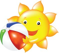 Sol lua nuvem e. Smiley clipart summer clip freeuse download