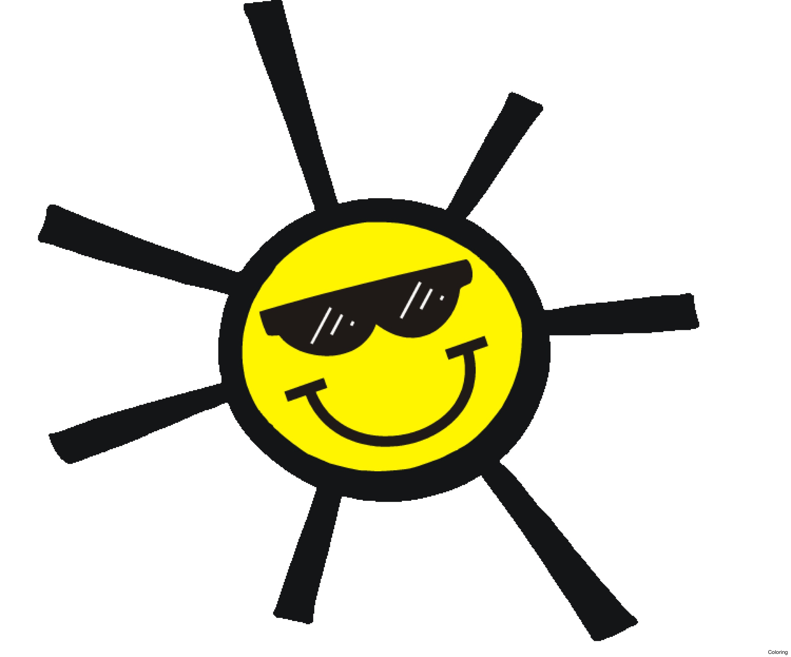 Smiley clipart summer. Happy at getdrawings com