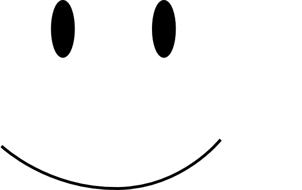 Smiley face black and white png. Clip art at clker