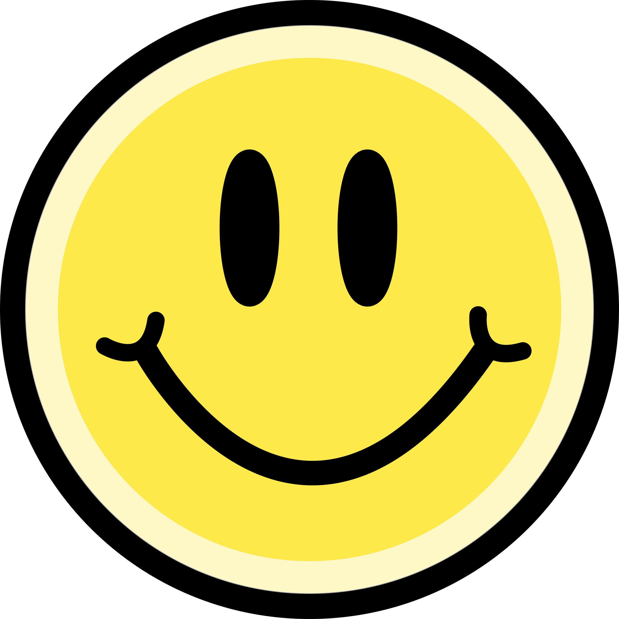 Smiley face button png. Clipart emoticon yellow big