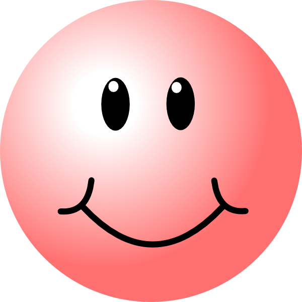 Red smiley face png. Pink clip art at