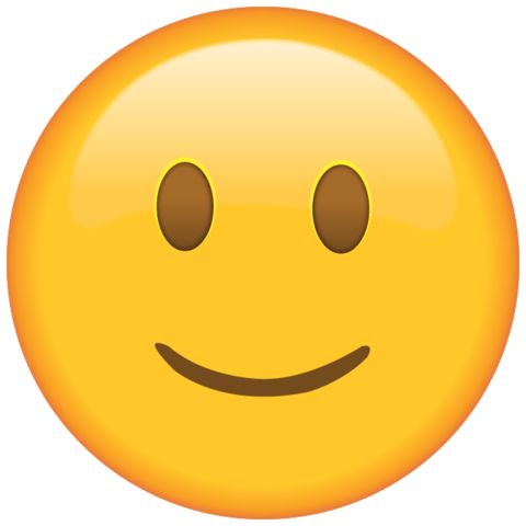 Smiley face emoji png. Download slightly smiling island