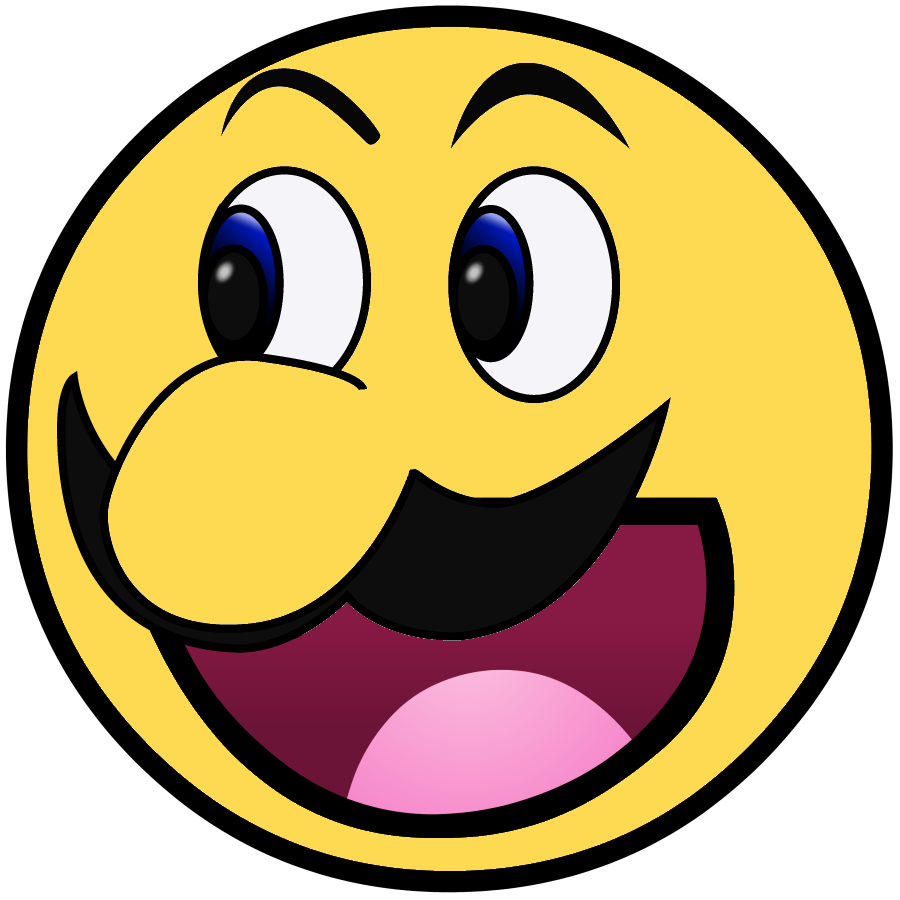 Smiley face meme png. Mario awesome heaven pinterest