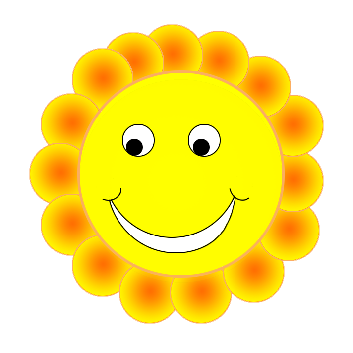 Smiley face png. Clipart embarrassed flower smile