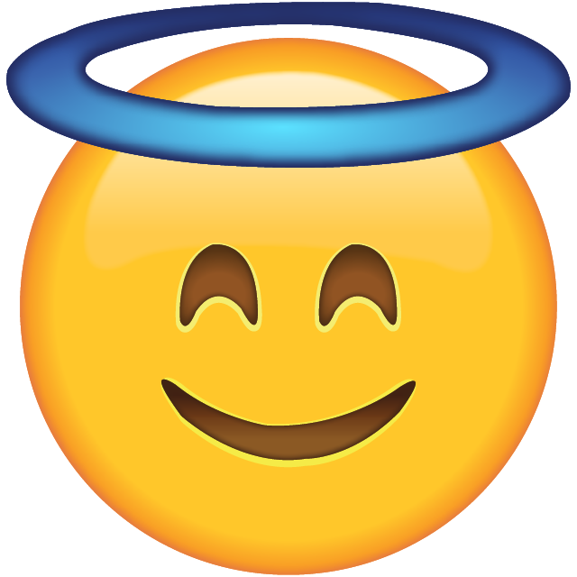 Smiley face png emoji. Download smiling with halo